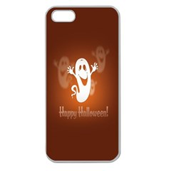 Funny Halloween Apple Seamless Iphone 5 Case (clear)