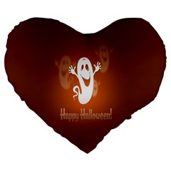 Funny Halloween Large 19  Premium Heart Shape Cushions