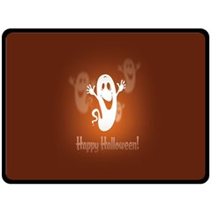 Funny Halloween Double Sided Fleece Blanket (large)  by AnjaniArt