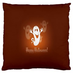 Funny Halloween Large Flano Cushion Case (one Side) by AnjaniArt