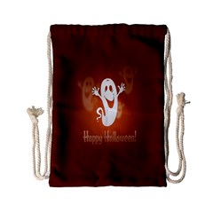 Funny Halloween Drawstring Bag (small) by AnjaniArt