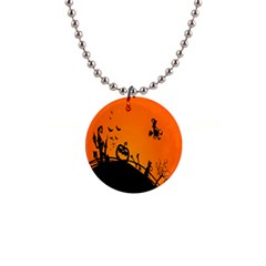 Halloween Day Button Necklaces