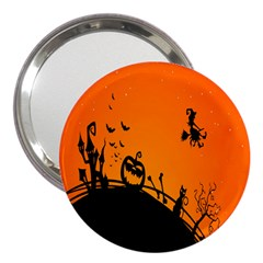 Halloween Day 3  Handbag Mirrors by AnjaniArt