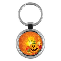 Halloween Pumpkin Key Chains (round)
