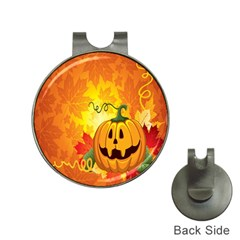 Halloween Pumpkin Hat Clips With Golf Markers by AnjaniArt