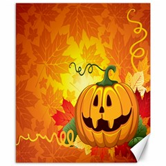 Halloween Pumpkin Canvas 8  X 10  by AnjaniArt