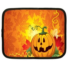 Halloween Pumpkin Netbook Case (large) by AnjaniArt