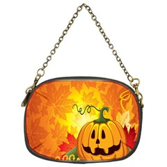 Halloween Pumpkin Chain Purses (one Side)  by AnjaniArt