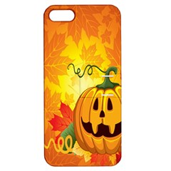 Halloween Pumpkin Apple Iphone 5 Hardshell Case With Stand by AnjaniArt