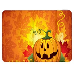 Halloween Pumpkin Samsung Galaxy Tab 7  P1000 Flip Case by AnjaniArt