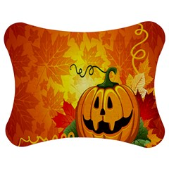Halloween Pumpkin Jigsaw Puzzle Photo Stand (bow) by AnjaniArt