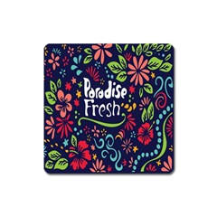 Hawaiian Paradise Fresh Square Magnet