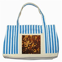 Honey Honeycomb Jpeg Striped Blue Tote Bag