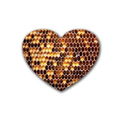 Honey Honeycomb Jpeg Heart Coaster (4 Pack)  by AnjaniArt