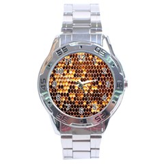 Honey Honeycomb Jpeg Stainless Steel Analogue Watch
