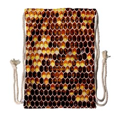 Honey Honeycomb Jpeg Drawstring Bag (large) by AnjaniArt