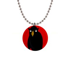 Halloween   Old Raven Button Necklaces by Valentinaart