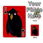 Halloween - old raven Playing Cards 54 Designs  Front - Spade3