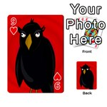 Halloween - old raven Playing Cards 54 Designs  Front - Heart9