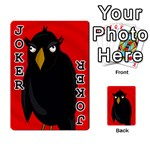 Halloween - old raven Playing Cards 54 Designs  Front - Joker1