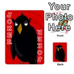 Halloween - old raven Playing Cards 54 Designs  Front - Joker2