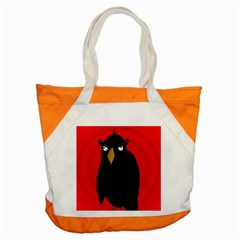 Halloween   Old Raven Accent Tote Bag by Valentinaart