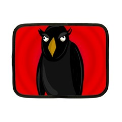 Halloween   Old Raven Netbook Case (small)  by Valentinaart