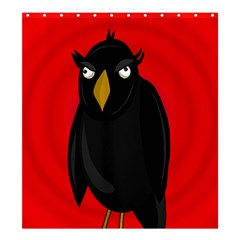 Halloween   Old Raven Shower Curtain 66  X 72  (large)  by Valentinaart