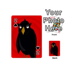 Halloween   Old Raven Playing Cards 54 (mini)  by Valentinaart