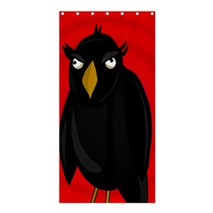 Halloween   Old Raven Shower Curtain 36  X 72  (stall)  by Valentinaart