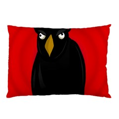 Halloween   Old Raven Pillow Case (two Sides) by Valentinaart