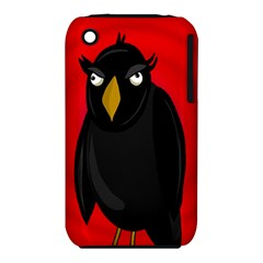 Halloween   Old Raven Apple Iphone 3g/3gs Hardshell Case (pc+silicone) by Valentinaart