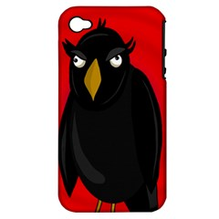 Halloween   Old Raven Apple Iphone 4/4s Hardshell Case (pc+silicone) by Valentinaart