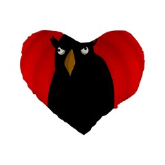Halloween   Old Raven Standard 16  Premium Heart Shape Cushions by Valentinaart