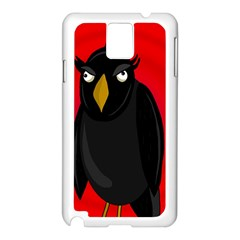 Halloween   Old Raven Samsung Galaxy Note 3 N9005 Case (white) by Valentinaart