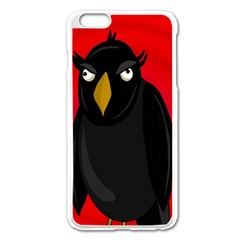 Halloween   Old Raven Apple Iphone 6 Plus/6s Plus Enamel White Case by Valentinaart