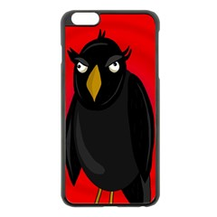 Halloween   Old Raven Apple Iphone 6 Plus/6s Plus Black Enamel Case by Valentinaart