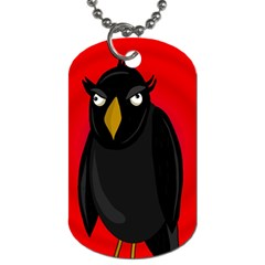 Halloween   Old Raven Dog Tag (one Side) by Valentinaart