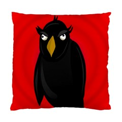 Halloween   Old Raven Standard Cushion Case (one Side) by Valentinaart