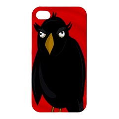 Halloween   Old Raven Apple Iphone 4/4s Hardshell Case by Valentinaart