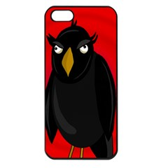 Halloween   Old Raven Apple Iphone 5 Seamless Case (black) by Valentinaart
