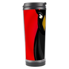 Halloween   Old Raven Travel Tumbler by Valentinaart
