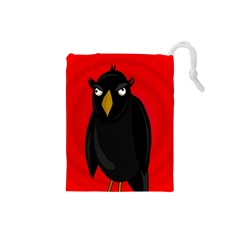 Halloween   Old Raven Drawstring Pouches (small)