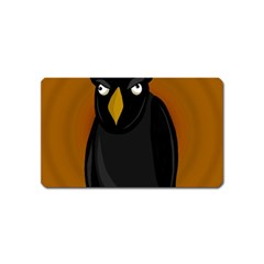 Halloween   Old Black Rawen Magnet (name Card) by Valentinaart