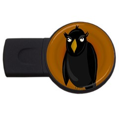 Halloween   Old Black Rawen Usb Flash Drive Round (2 Gb)  by Valentinaart