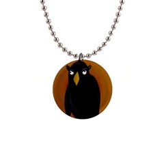Halloween   Old Black Rawen Button Necklaces by Valentinaart