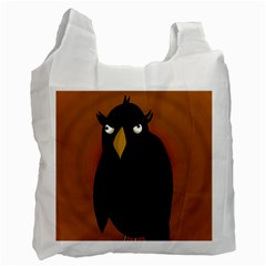 Halloween   Old Black Rawen Recycle Bag (two Side)  by Valentinaart