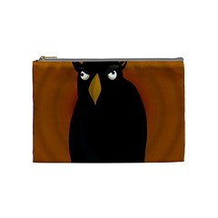 Halloween   Old Black Rawen Cosmetic Bag (medium)  by Valentinaart