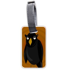 Halloween   Old Black Rawen Luggage Tags (one Side)  by Valentinaart