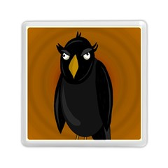 Halloween   Old Black Rawen Memory Card Reader (square)  by Valentinaart